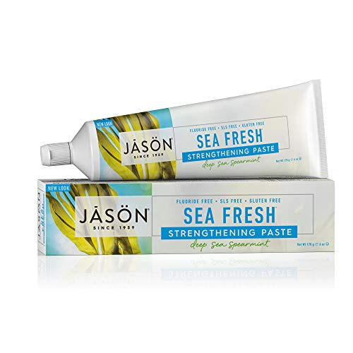 JASON Sea Fresh Strengthening Fluoride-Free Toothpaste, Deep Sea Spearmint, 6 oz. (Packaging May Vary)