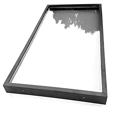 "SIG Skylights CM3B 24 x 48 Curb Mounted Glass Skylight w/Bronze Insulated Glass, 2"" Drop"