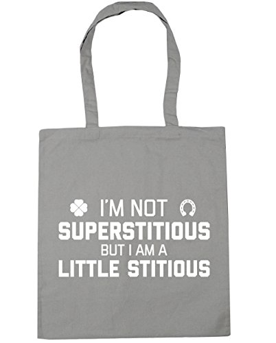 Light a but stitious litres Beach Shopping I'm Grey HippoWarehouse not Tote 42cm Bag 10 I superstitious x38cm Gym little am w1FnUgRxn