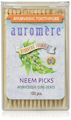 - Ayurvedic Neem Toothpicks by Auromere - All Natural, with Neem and Vegan - 100ct (12 Pack)