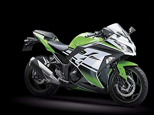 LJBusRoll Black Green White Fairing Injection 2013-2018 Kawasaki Ninja 300 EX300R EX-300R Motorcycle Full bodywork kit 2014 2015 2016 2017