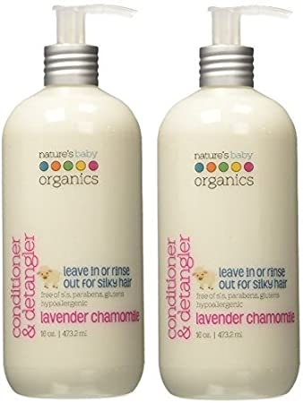 Nature's Baby Organics Conditioner & Detangler, Coconut Pineapple, 16 oz | Babies, Kids, & Adults! Natural, Moisturizing, Gentle, Rich, Hypoallergenic | No Chemicals, Parabens, SLS, Glutens Natures Baby Organics 183060000378
