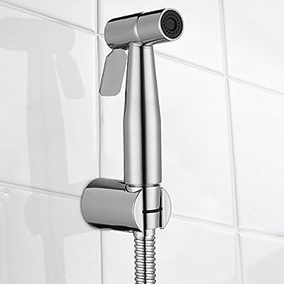 Bidet Sprayer Head, ID MAX Stainless Steel Hand Held Bidet Toilet Sprayer Baby Cloth Diaper Washer Bathroom Hand Shower Shattaf Sprayer Muslim Shower for Personal Hygiene And Bedpan WC Sprayer
