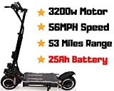 maxx OUTSTORM 56MPH Ultra High Speed Electric Scooter for Adults Foldable, 3200W Dual Motor  60V 25Ah Samsung Battery   52 Miles Range   Climbing Grade 50° ... (25Ah Battery/ 52 Miles Range)