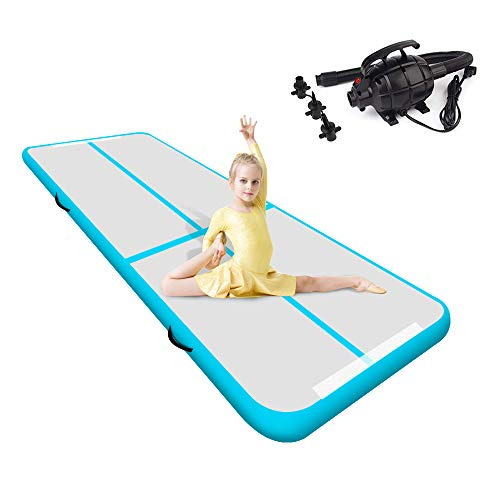 Teriitrack 10ft/13ft/16ft/20ft/23ft/26ft/29ft/33ft/36ft/39ft Air Track Tumbling Mat Air Floor Mat for Gymnastics/Cheerleading/Martial Arts/Parkour/Beach/Home Use