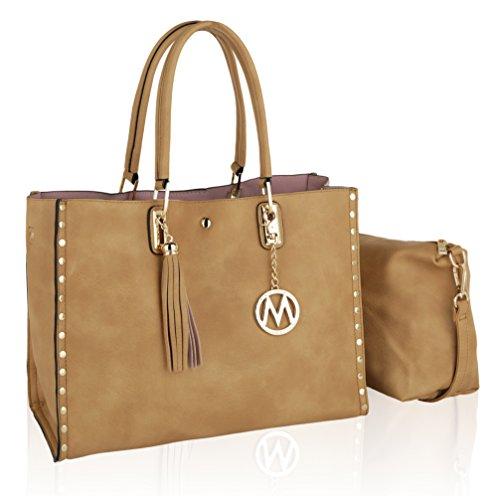 Isa Women Large Designer Handbags Satchel Big Purses Structured by Mia K Farrow