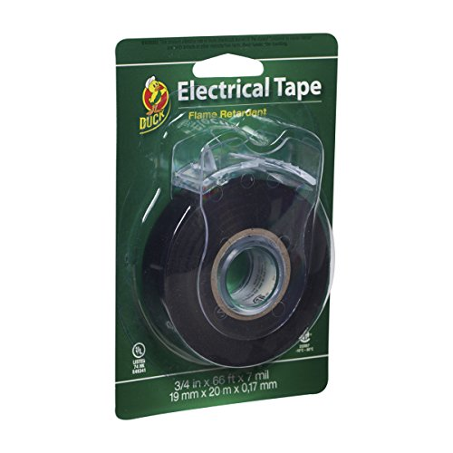 Duck Brand 299023 Professional Electrical Tape, 0.75-Inch by 66-Feet, Single Roll with Dispenser, Black