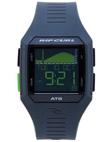Rip Curl Men's Rifles Quartz Sport Watch with Polyurethane Strap, Grey, 26 (Model: A1124-BKN)