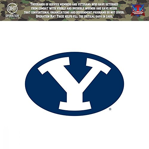 - Victory Tailgate Brigham Young University BYU Cougars Operation Hat Trick OHT Die Cut Vinyl Decal (24 Inch)