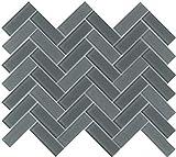 Emser Tile W80CHARWI1013MHB Charisma - 9-11/16'' x 13-1/16'' Herringbone Backsplash Mosaic Tile - Varied Glass Visual