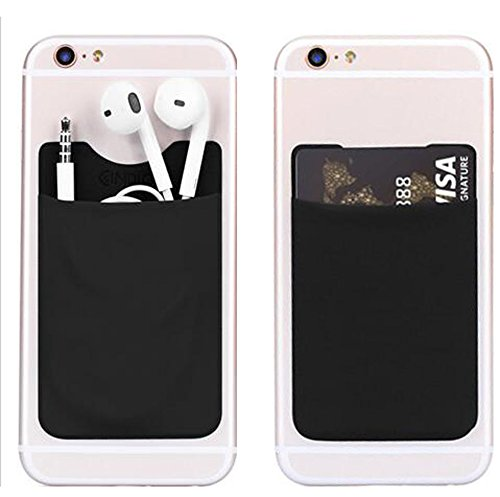 genko-card-sleeve-wallet-pocket-id-holder-credit-card-case-3m-sticker-backing-cell-phone-pouches-for