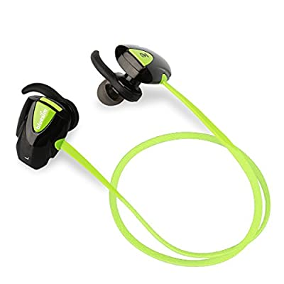 Bluetooth 4.1 Sport Headphones, Noise Canacelling In-ear Earphones, Lightweight Headphone with Microphone and Volume Control for Running Jogging Workout Biking for iphone
