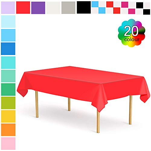 Etmury Plastic Tablecloth 6 Pack Disposable Rectangle Table Covers 54 in. x 108 in. for 6 to 8 Foot Tables Indoor or Outdoor Parties Birthdays Weddings Christmas ()