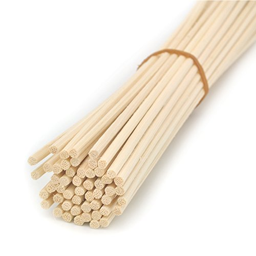 (Ougual 100 Pieces Natural Rattan Reed Diffuser Replacement Sticks (12