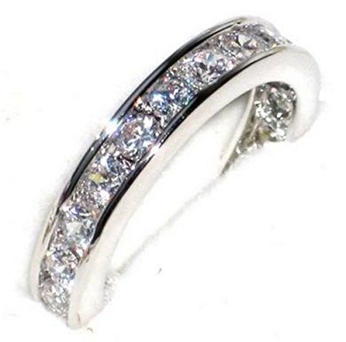 FREE ENGRAVING (FORGET ME NOT) Ah! Jewellery Ladies Sterling Silver Channel...