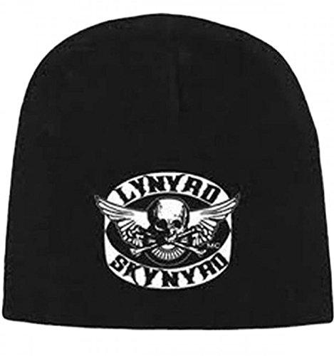 Crossbones Knit (Lynyrd Skynyrd Skull Crossbones Logo Print Black Knit Beanie Skull Cap Sports Hat)