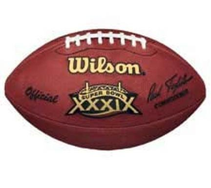 (Wilson Super Bowl XXXIX Official Game Football New England Patriots vs. Philadelphia Eagles)