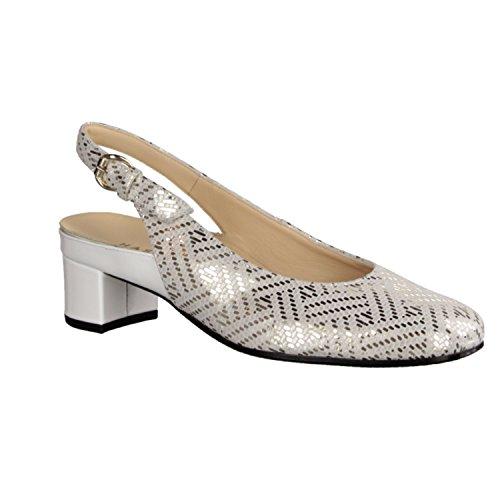 Hassia Verona 303696 - Zapatos De Mujer Sandalias De Tacón Alto / Honda, Varios colores, cuero (treccia), altura de tacón: 35 mm