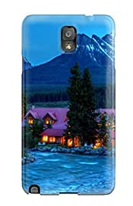Fashion Protective Pink Mountain House Case Cover For Galaxy Note 3
