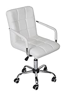 Amazon Com Tms White Modern Office Executive Synthetic