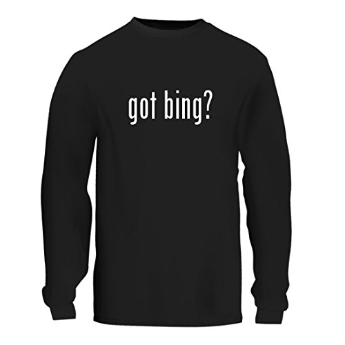 Got Bing    A Nice Mens Long Sleeve T Shirt Shirt  Black  Large