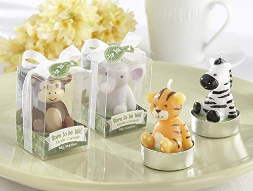 (Kate Aspen Born to be Wild Animals Tea Light Candles - Guest Gift, Party Favor or Decorations for Weddings, Bridal Showers, Baby Showers & More - Assorted (2 Sets of 4, 8 pcs))