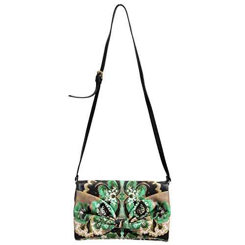 Red Valentino Women's Multi-Color Bow Decorated Clutch Shoulder Bag (Bow Valentino Bag)
