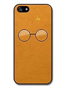 AMAF ? Accessories Harry Potter Movie Minimalist Illustration with Glasses and Lightning case for iPhone 5 5S