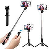 Selfie Stick Tripod, Mpow 3 in 1 Wireless Selfie Stick with Remote 360° Rotation Phone Holder for 3.5-6 inch Smartphone iPhone XS/XR/X/8/8 Plus/7/7 Plus/6/SE Samsung Galaxy S8 /S8 Plus/Google Pixel