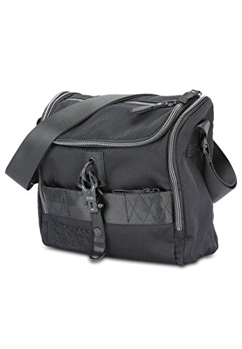 Cooler Black Schultertasche Lucy amp; X Gina black Roots Nylon George xqHU7vx