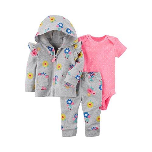 Carter's Baby Girls' 3-Piece Little Jacket Set 6 (Ruffle Jacket Set)
