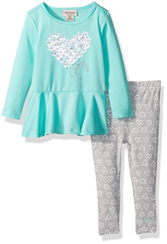 - Juicy Couture Baby Girls 2 Pieces Pants Set, Green, 12M