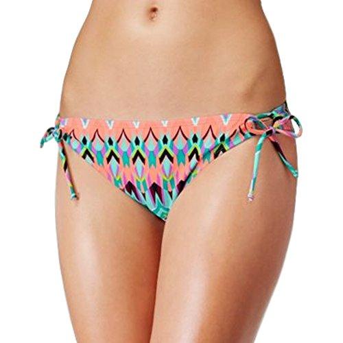 Hipster Swimwear Trunks (Hula Honey Women's Side-Tie Hipster Bikini Bottoms (X-Large, Blue Multi))
