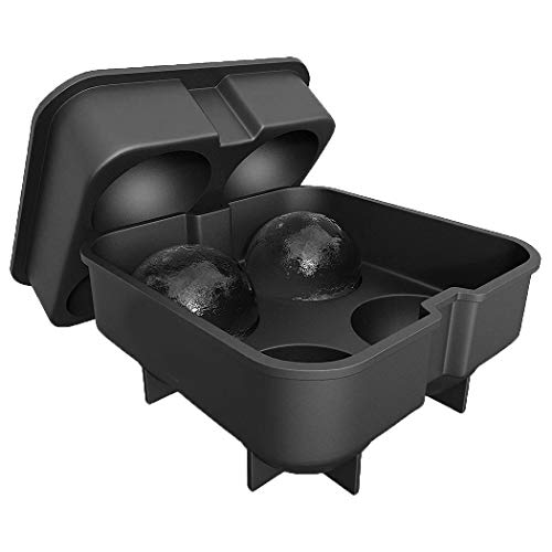 Acecor 4 Hole Ice Ball Drinking Wine Tray Brick Round Maker Mold Sphere Mold Party Water Coolers