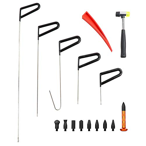 MMPP Dent Removal Rods Paintless Dent Repair Tool Kits 5PCS Dent Repair Rods with Dent Repair Hammer Dent Removal Tap Down Car Wedge for Dent Removal of Hail Dents and Door Ding by MMPP (Image #7)
