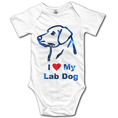 White Sailor Dog Shirt (MingDe YY Cute I Love My Lab Dog Baby Romper Bodysuit Short Sleeve Infant Creeper Jumpsuit)