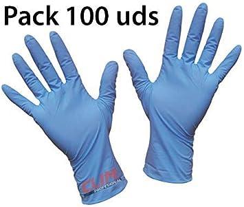 Clim Profesional® Guantes desechables de vinilo azul sin polvo. Paquete autodispensador con 100 uds de la talla Pequeña: Amazon.es: Salud y cuidado personal