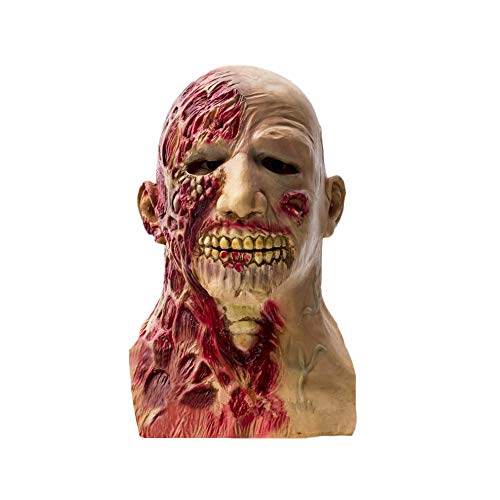 XiaZ Halloween Horror Mask Scary, Zombie Mask, Latex