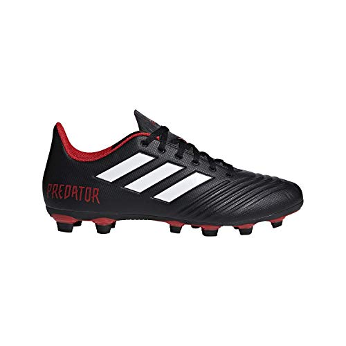 adidas Men's Predator 18.4 FxG Soccer Shoe, Black/White/red, 10.5 M US (Best Cleats For Ultimate Frisbee)