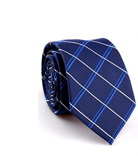 Clothing Accessories Dark Blue Men's Diagonal Stripe Tie Fashion Formal Business Tie Neck Tie from sea-junop (Color : Dark Blue, Size : One size)