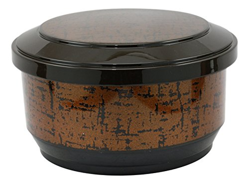 Gold Rice Bowl - Ebros Large Japanese Restaurant Grade Gold Ohitsu Rice Container Serving Bowl With Scoop For 3-4 People Party Hosting Restaurant Supply