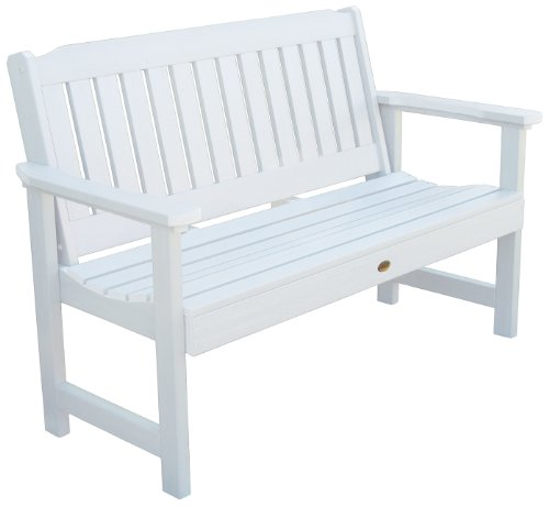 Highwood Lehigh Garden Bench, 4 Feet, White by Highwood