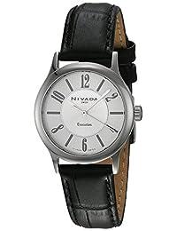 Nivada NP16086LACPA Ezzy Reloj Cuarzo Análogo, color Plata/Negro
