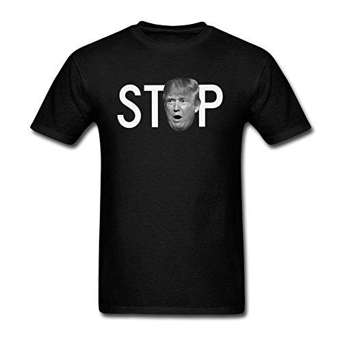 JustLikeSun Men's Donald Trump Stop Art T Shirt (Stop Bush T-shirt)