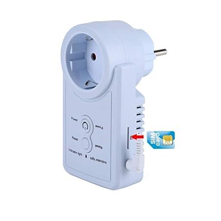 FTVOGUE Enchufe Inteligente WiFi Inalámbrico Zócalo de corriente G/M con control de comando del SMS y sensor de temperatura (01)