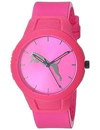 PUMA Reset V2 Reloj de cuarzo para mujer con correa de poliuretano, rosa, 18 (Modelo: P1015)