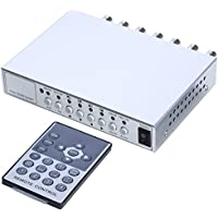 UHPPOTE 4CH Color QUAD System Video Splitter CCTV DVR Camera Processor Remote Control