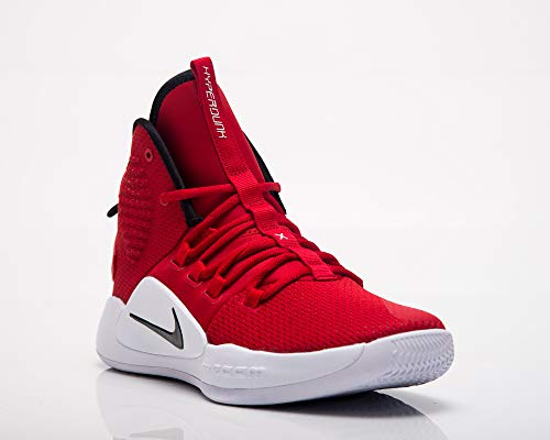 Image of NIKE Men's Hyperdunk X TB Basketball Shoe AR0467-600 University Red/Black-White 10.5 D(M) US