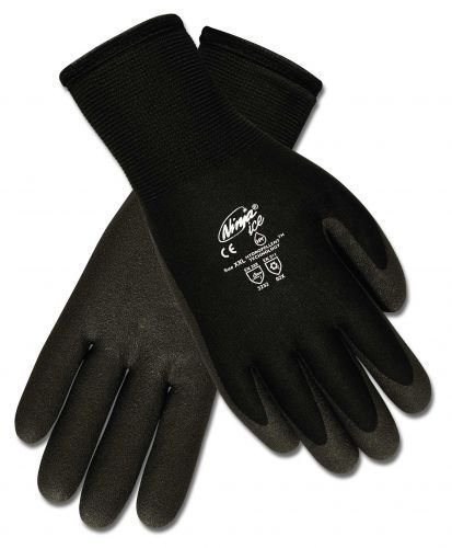 Memphis N9690 Ninja Ice Gloves, HPT Coated Palm and Fingers, Dual Layered: 15 Gauge Nylon Shell and 7 Gauge Terry Liner, HPT Coating Repels Liquid, Flexible to -58 Fahrenheit, 12 Pair XL