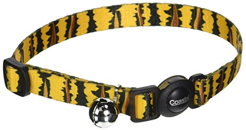 Coastal Pet Products CCP6781TIG Fashion Safe Cat Adjustable Breakaway Collar with Bells, - Pack Tigers Fashion